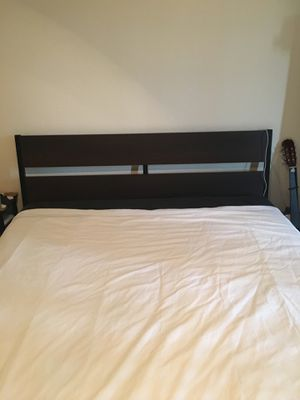 Ikea metal and wood bed frame for Sale in Vista, CA