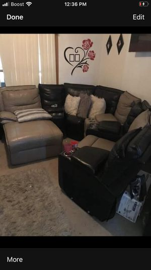 Custom leather couch for Sale in Buffalo, NY