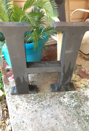 Metal letter H for Sale in Dallas, TX