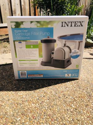 Intex 28633EG 2500 GPH Above Ground Swimming Pool Cartridge Filter Pump System for Sale in San Lorenzo, CA