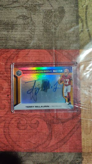 Terry mclaurin auto card for Sale in Worth, IL