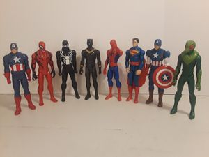 Marvel DC Captain America Spider Man Black Panther + More Action Figure Set for Sale in Houston, TX