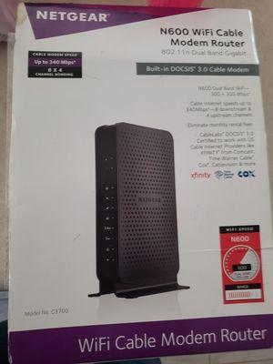 netgear n600 wifi cable modem router 802.11n dual band gigabit for Sale in San Antonio, TX
