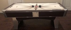 AIR-HOCKEY TABLE with Electronic Score Display Arch Thingy (not shown but definitely part of offer) Just another example of HOW FUN WE ARE... and HOW for Sale in Dublin, OH