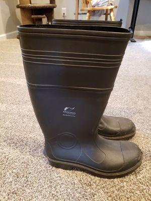 Men's heavy duty rubber rain boots for Sale in Cincinnati, OH