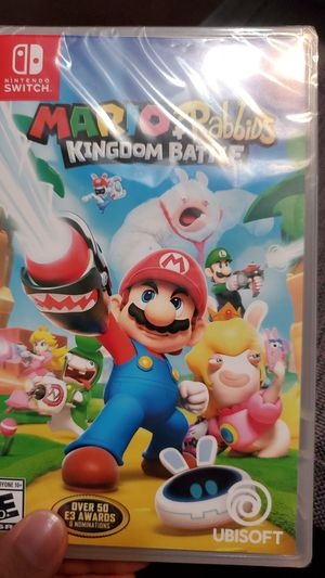 New and sealed nintendo switch mario + rabbids kingdom battle for Sale in Riverside, CA