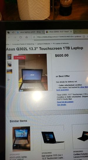 Asus touchscreen flip laptop for Sale in Moreno Valley, CA