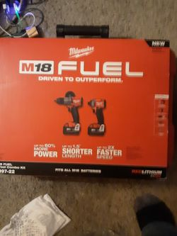 Milwaukee M18 Fuel Half Inch Impact And Hammer Drill Combo. for Sale in Kansas City,  MO