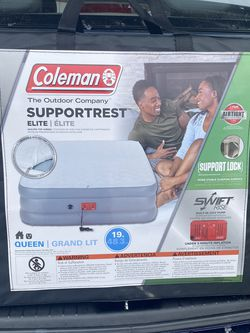 coleman supportrest elite double-high airbed with quilted top queen for Sale in Manassas,  VA