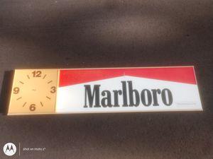 Marlboro sign clock for Sale in Winter Haven, FL