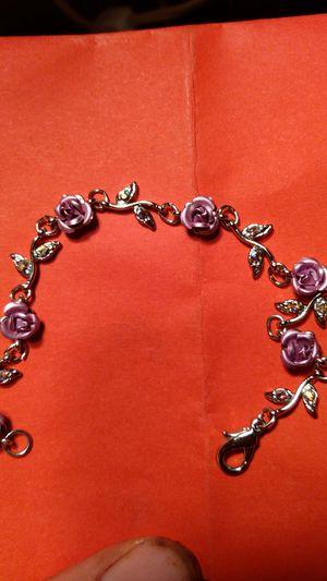 Beautiful purple rose bracelet. for Sale in Pinellas Park, FL
