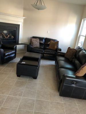 4 piece recliner couches with pillows for Sale in Frederick, MD