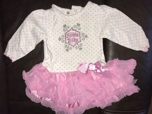 Santa Baby onesie with ruffle skirt, size 6 mo for Sale in Rustburg, VA