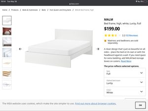 Ikea full size bed with mattress and bedlined for Sale in Berkeley, CA