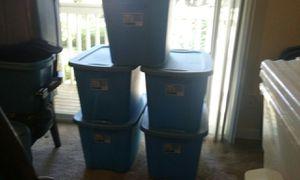 5)18 Gallon totes $6 each for Sale in Des Moines, WA