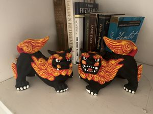 Chinese dragon sculpture bookends for Sale in Long Beach, CA
