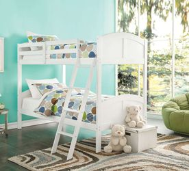 Twin/Twin Bunk Bed - 37009 - White for Sale in Pomona,  CA