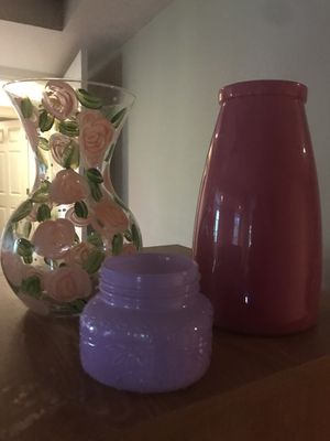 Flower vases set of three or individual for Sale in Pleasant View, TN