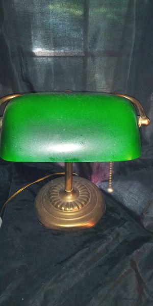 Vintage glass bankers desk lamp.. for Sale in Columbus, GA