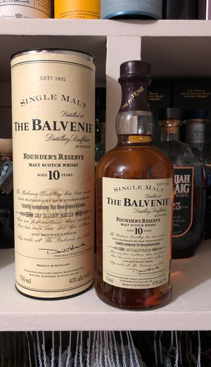 Vintage The Balvenie Founders Reserve 10yr for Sale in Chevy Chase, MD