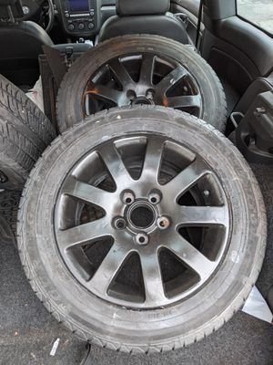 Black painted rims with brand new all season tires 5 x 112 pattern for Sale in Amesbury, MA