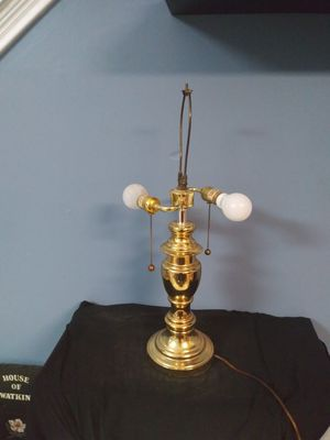 Vintage large double socket brass classic design table lamp for Sale in Beech Grove, IN