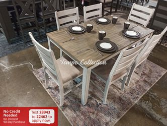 New 7pc Dining Set, SKU# ASHD394-425TC for Sale in Norwalk,  CA