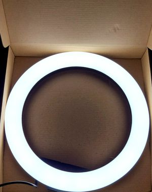 """10.2"""" Selfie Ring Light with Desktop Tripod Stand, Dimmable with Phone Holder for Sale in Arlington, TX"""