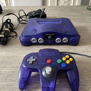 Nintendo 64 Grape Purple Console And Controller Works Great N 64 for Sale in Fort Lauderdale, FL