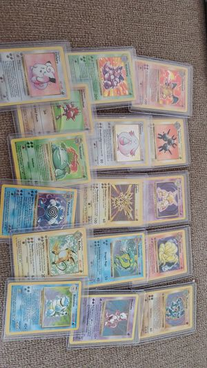 Complete base set hologram Pokemon cards. 1st edition. for Sale in Clearwater, FL
