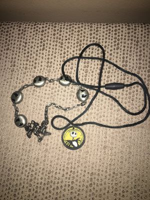 Nightmare Before Christmas Jack Face Necklaces - 2 for Sale in Pittsburgh, PA