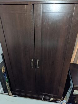 Dark Wood Armoire Office Desk for Sale in Canton,  GA