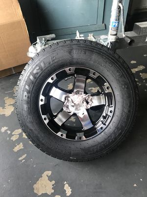 Brand New Pair of size 14 Trailer Rims on 205/75/14 Tires for Sale in Cranston, RI