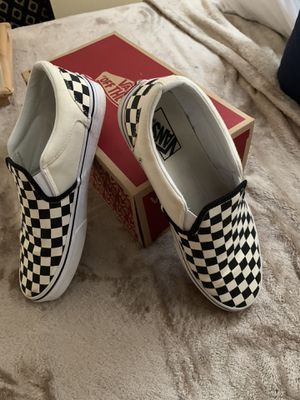 VANS - White & Black ( Checkers ) for Sale in Silver Spring, MD