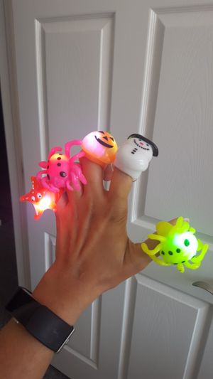 Flashing rings for party for Sale in Waukegan, IL