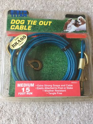 Dog tie out cable for Sale in Centreville, VA