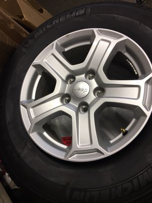 Jeep Wrangler OEM wheels & tires low miles for Sale in Carson, CA