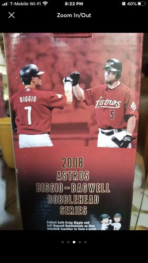 Houston Astros Bobbleheads Biggio and Bagwell for Sale in Houston, TX