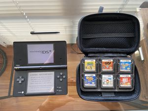 Nintendo DSi with 6 games, carrying case, and stylus for Sale in Pelham, AL