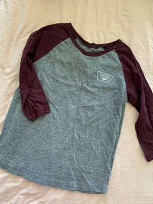 Vans baseball tee size small for Sale in Buda, TX