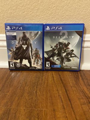 Destiny 1 & 2 PS4 for Sale in Temecula, CA