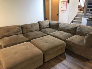 Tan sectional couch for Sale in Snohomish, WA