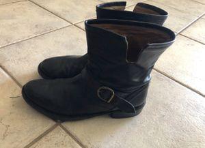5ad239d383844 Fiorentini Baker Eli Moto Short Boots Black Leathe