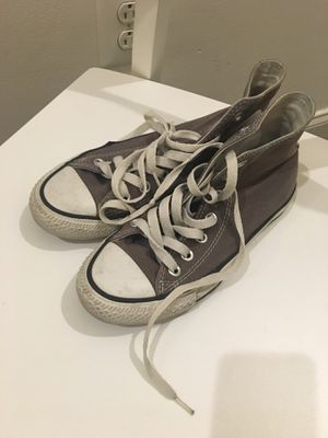 High top Grey converse shoes - all star for Sale in Philadelphia, PA