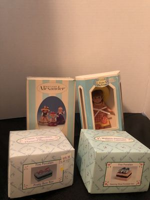 Madame Alexander lot of 4 -doll,figures, porcelain boxes for Sale in Ephrata, PA