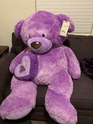 XXXL Purple Teddy Bear for Sale in Atascocita, TX