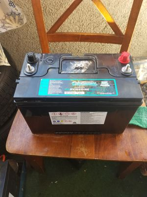 Group 27 deep cycle Marine/Rv battery brand new for Sale in Santa Fe Springs, CA