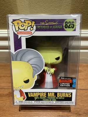 Funko Pop! Simpsons Treehouse of Horror Vampire Mr. Burns NYCC FYE Shared Exclusive Nonmint Box for Sale in Buena Park, CA