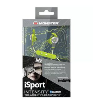 New Box Monster iSport Intensity Sweatproof Bluetooth Wireless Headphones Green for Sale in Dublin, OH