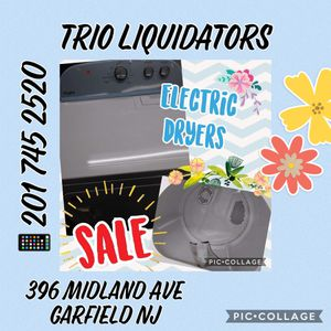Electric Dryers SALE !! for Sale in Garfield, NJ